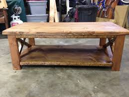 Image Of Rustic Coffee Table Plans