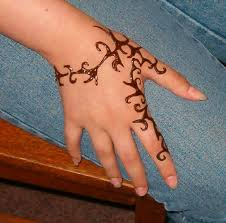 Tribal Henna Tattoo On Hand