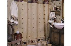 Bathroom Country Shower Curtain With Stars Design The Accessories