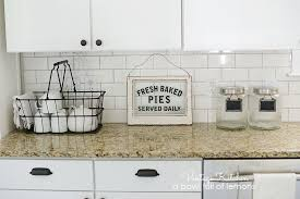 How To Add Vintage Style A Builders Grade Kitchen By Bowl Full Of Lemons Hobby Lobby
