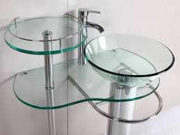 Pedestal Sinks For Small Bathrooms by Glass Contemporary Pedestal Sink Classic Contemporary Pedestal