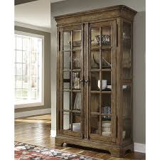 Lighted Curio Case Storage Display Cabinet Rustic