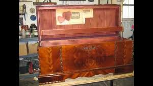 Restoration Old Cedar Chest Shellac Natural Finish MadadarNaples FL