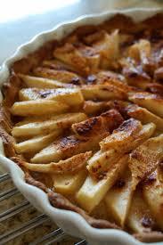 französische birnen tarte oder galette fruchtiger kuchen