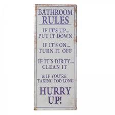 badezimmer regeln blechschild tafel spruch wohnaccessoire geschenk dekoration wand schild ellas wohnwelt de