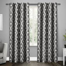 Gray Ruffle Blackout Curtains by 108 Inch 119 Inch Curtains U0026 Drapes You U0027ll Love Wayfair