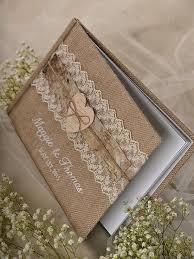 Burlap Natural Birch Bark Wedding Guest Book Rustic Guestbook