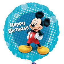 """Mickey Mouse & Friends """"Happy Birthday"""" Foil Balloons 18"""""""