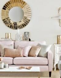 wohnzimmer deko rosa gold