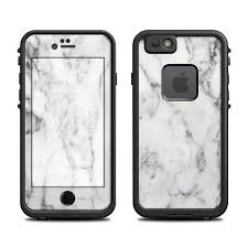 Lifeproof iPhone 6 Fre Case Skin White Marble by Marble