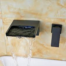 Wall Mounted Bathroom Faucets Oil Rubbed Bronze by Resica Single Handle Wall Mounted Oil Rubbed Bronze Waterfall