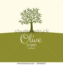 Olive label logo design Olive tree