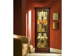 pulaski furniture curios victorian cherry corner curio john v