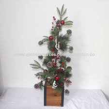 China Tall Artificial Christmas Tree Pine Needles Ball Antlers Cones In