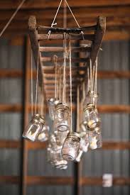 Diy Ladder And Mason Jar Chandelier Decor Ideas For Rustic Vintage Weddings