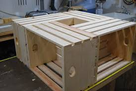 Outstanding Wood Crate Coffee Table Woodlogger Pertaining To Popular