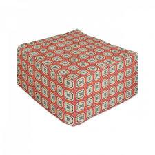 abakuhaus pouf unter tisch fußhocker für wohnzimmer büro ottomane mit abdeckung abstrakt mosaik fliesen retro stil kaufen otto