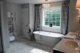 trellis curtains contemporary bathroom karen viscito interiors