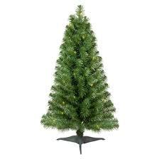 Slim Pre Lit Christmas Trees by 3ft Prelit Slim Artificial Christmas Tree Alberta Spruce Clear