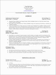 Army Infantry Resume Examples Military To Civilian