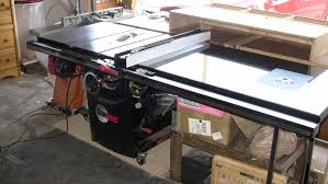 review professional cabinet saw w mobile base and 52 rails by