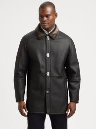 Ferragamo Shearling Trimmed Leather Coat In Black For Men | Lyst Womens Brown Shearling Sheepskin Duffle Coat Daria Uk Lj Coach Jacket In Green For Men Lyst Taylor Stitch Blanket Lined Barn Jacket Huckberry Consume Urban Outfitters Uo Faux Barn And Wool Shop Jackets Peter Millar Cortina Leather Fur Fashion 2017 Weatherproof Fauxshearling For Women Save 50 237 Best Sheepskins I Love Images On Pinterest Bogoli Lamb Amazoncom Mountain Khakis Mens Ranch Sports