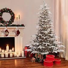 75ft Prelit Artificial Christmas Tree Flocked Alaskan Fir