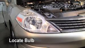 headlight change 2007 2012 nissan versa 2008 nissan versa s 1 8l