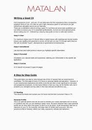 Simple One Page Resume Fresh What Should Be On A From How To Write