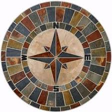 compass table top mosaic tables