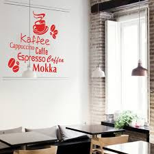 Art Design Home Decoration Waterproof PVC Wall Sticker Creative Words Vinyl Coffee Kitchen Decor Decals For Bar Or Shop In Stickers From