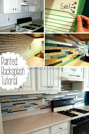 3d glass tile backsplash how to paint a to look like tile paint