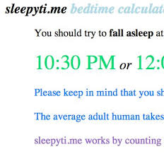 sleep calculator when to go to bed