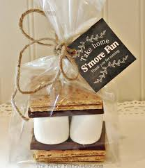 Smores Favor Tags Black Chalkboard Style