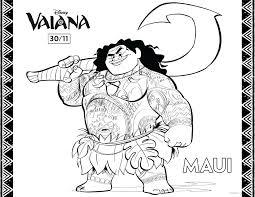 Vaiana Maui 2 Coloriage Vaïana La Légende Du Bout Du Monde