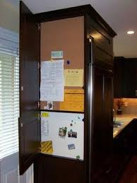 Refrigerator End Panel To Hid Message Center And Declutter Fridge