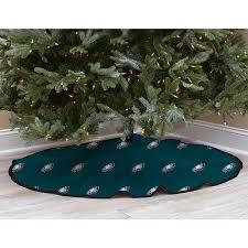 Green Philadelphia Eagles Micro Plush Christmas Tree Skirt