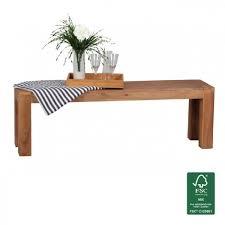 banc de cuisine en bois wohnling banquette en bois massif acacia 140 x 45 x 35 cm banc de