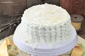 kokos torte dessert mit weißer schokolade
