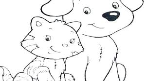 Dogs And Cats Coloring Pages Dog