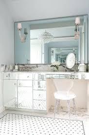 Bathroom Vanity Chair Mirrored Makeup Vanity With Vanity Chair