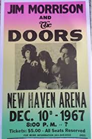 Jim Morrison And The Doors Concert At New Haven Arena 1967 Poster