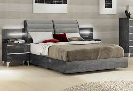 Lacquered Made in Italy Wood Elite Platform Bed with Extra Storage