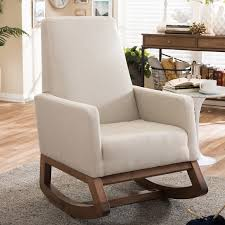 White Fabric Rocking Chair | Upholstered Rocking Chair For Everyone ... Mid Century Upholstered Rocking Chair Revolutionhr Fniture Beautiful For Home Baxton Studio Bethany Contemporary Gray Fabric Wayfair Custom Upholstery Marlowe Danish Modern Teak At 1stdibs American Style Covered In Modern Fabric Lovely Arms Royals Courage Comfy And Costway Retro Senarai Harga Comfortable Relax Gliders Lounger Cotton White Everyone Luxury Chair Nursery Chairs Bunny Clyde