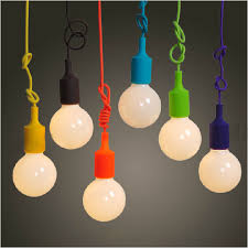 colorful pendant l modern vintage edison bulb bar restaurant