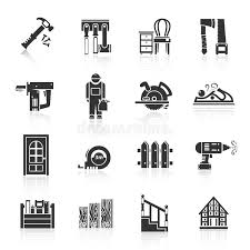 Download Carpentry Icons Black Stock Vector Illustration Of Electricity