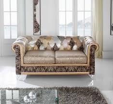 housse de canapé chesterfield chesterfield léopard patchwork