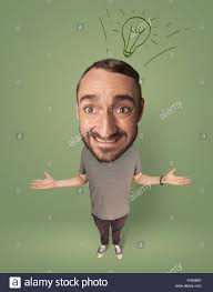 big person with idea bulb stock photo royalty free image