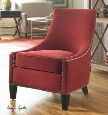 Elegant Contemporary Crimson Red Accent Chair
