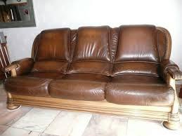 canapé cuir et bois rustique salons cuir occasion dans le pas de calais 62 annonces achat et